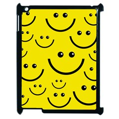 Linus Smileys Face Cute Yellow Apple Ipad 2 Case (black) by Mariart