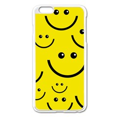 Linus Smileys Face Cute Yellow Apple Iphone 6 Plus/6s Plus Enamel White Case by Mariart