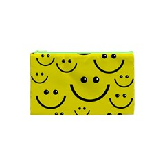 Linus Smileys Face Cute Yellow Cosmetic Bag (xs) by Mariart