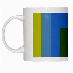 Plaid Green Blue Yellow White Mugs by Mariart
