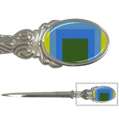 Plaid Green Blue Yellow Letter Openers by Mariart