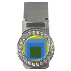 Plaid Green Blue Yellow Money Clips (cz)  by Mariart