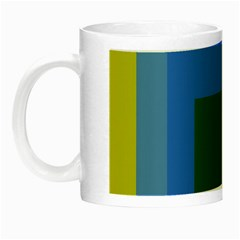 Plaid Green Blue Yellow Night Luminous Mugs by Mariart