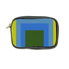 Plaid Green Blue Yellow Coin Purse