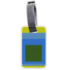 Plaid Green Blue Yellow Luggage Tags (two Sides) by Mariart