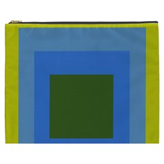 Plaid Green Blue Yellow Cosmetic Bag (xxxl)  by Mariart