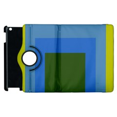 Plaid Green Blue Yellow Apple Ipad 3/4 Flip 360 Case by Mariart