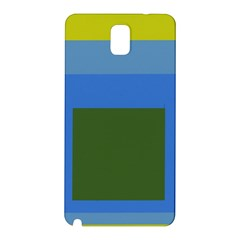 Plaid Green Blue Yellow Samsung Galaxy Note 3 N9005 Hardshell Back Case