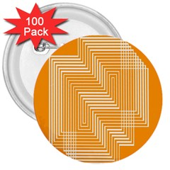 Orange Line Plaid 3  Buttons (100 Pack)  by Mariart