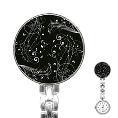 Floral Design Stainless Steel Nurses Watch