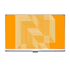 Orange Line Plaid Business Card Holders by Mariart