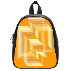 Orange Line Plaid School Bags (small)  by Mariart