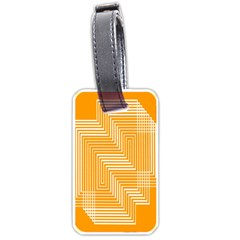 Orange Line Plaid Luggage Tags (two Sides) by Mariart