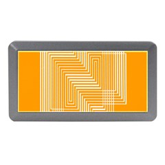 Orange Line Plaid Memory Card Reader (mini) by Mariart