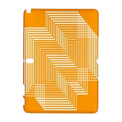 Orange Line Plaid Galaxy Note 1 by Mariart
