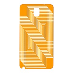 Orange Line Plaid Samsung Galaxy Note 3 N9005 Hardshell Back Case by Mariart