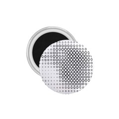 Polka Circle Round Black White Hole 1 75  Magnets by Mariart