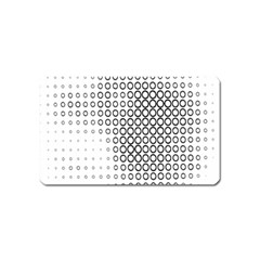 Polka Circle Round Black White Hole Magnet (name Card) by Mariart