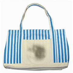 Polka Circle Round Black White Hole Striped Blue Tote Bag by Mariart