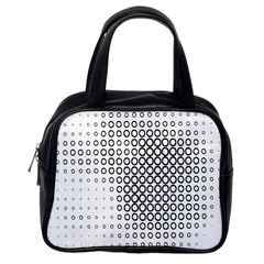 Polka Circle Round Black White Hole Classic Handbags (one Side) by Mariart