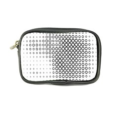 Polka Circle Round Black White Hole Coin Purse by Mariart
