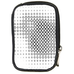 Polka Circle Round Black White Hole Compact Camera Cases by Mariart