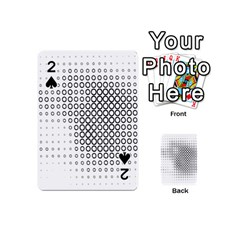 Polka Circle Round Black White Hole Playing Cards 54 (mini)  by Mariart