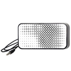 Polka Circle Round Black White Hole Portable Speaker (black) by Mariart