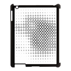 Polka Circle Round Black White Hole Apple Ipad 3/4 Case (black) by Mariart