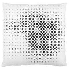 Polka Circle Round Black White Hole Standard Flano Cushion Case (two Sides) by Mariart