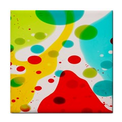 Polkadot Color Rainbow Red Blue Yellow Green Tile Coasters by Mariart