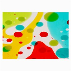 Polkadot Color Rainbow Red Blue Yellow Green Large Glasses Cloth by Mariart