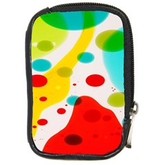 Polkadot Color Rainbow Red Blue Yellow Green Compact Camera Cases by Mariart