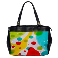 Polkadot Color Rainbow Red Blue Yellow Green Office Handbags by Mariart