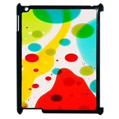 Polkadot Color Rainbow Red Blue Yellow Green Apple Ipad 2 Case (black) by Mariart