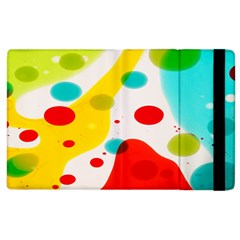 Polkadot Color Rainbow Red Blue Yellow Green Apple Ipad 2 Flip Case by Mariart