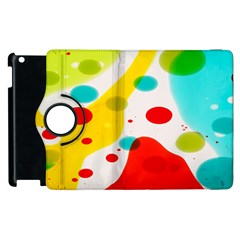 Polkadot Color Rainbow Red Blue Yellow Green Apple Ipad 2 Flip 360 Case by Mariart