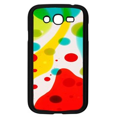 Polkadot Color Rainbow Red Blue Yellow Green Samsung Galaxy Grand Duos I9082 Case (black) by Mariart