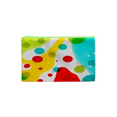 Polkadot Color Rainbow Red Blue Yellow Green Cosmetic Bag (xs) by Mariart
