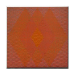 Live Three Term Side Card Orange Pink Polka Dot Chevron Wave Tile Coasters by Mariart