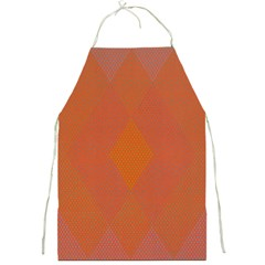 Live Three Term Side Card Orange Pink Polka Dot Chevron Wave Full Print Aprons by Mariart