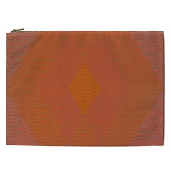 Live Three Term Side Card Orange Pink Polka Dot Chevron Wave Cosmetic Bag (xxl)  by Mariart