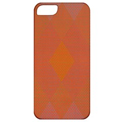 Live Three Term Side Card Orange Pink Polka Dot Chevron Wave Apple Iphone 5 Classic Hardshell Case by Mariart