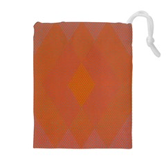 Live Three Term Side Card Orange Pink Polka Dot Chevron Wave Drawstring Pouches (extra Large)