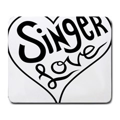 Singer Love Sign Heart Large Mousepads by Mariart