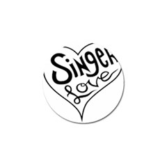 Singer Love Sign Heart Golf Ball Marker (4 Pack) by Mariart