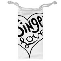 Singer Love Sign Heart Jewelry Bag by Mariart