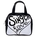 Singer Love Sign Heart Classic Handbags (One Side) Front