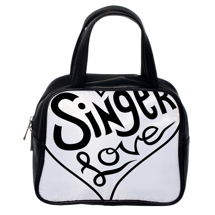 Singer Love Sign Heart Classic Handbags (One Side)