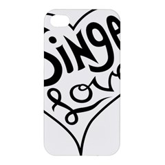 Singer Love Sign Heart Apple Iphone 4/4s Hardshell Case by Mariart